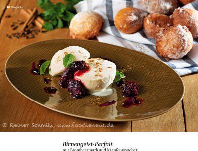 Birnengeist Parfait, Krapfen, SZ Magazin Wohlfuehlen Weihnachtsm